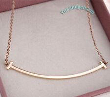 Korean Drama My Lovely Girl Rain Krystal Smiling Smile 18K Rose Gold Necklace