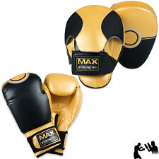 10 On Gants de Boxe Courbé Focus tampon set Crochet Jab MMA Mauy Thai Kick formation