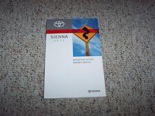 2011 Toyota Sienna Van Navigation System Owner User Manual LE SE XLE Limited