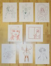 8 Tara McPherson Mini Prints/Handbills - Silkscreen Mini Print Set B