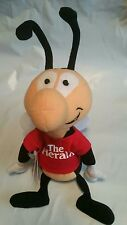 The Herald Buzz Bean Bag Buddy Bug Mascot Plush Stuffed Advertising Toy With Tag