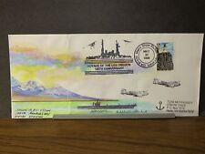 USS OREGON BB-3 Naval Cover 1998 MORRISSEY HAND PAINTED Cachet