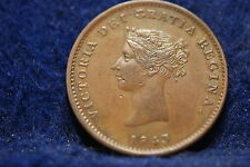 New Brunswick, 1843 Halfpenny, Glossy Brown About Uncirculated,               gl