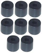 8 Gummifüße groß Ø 38 x 33 mm stahlverstärkt Gehäusefüße Gerätefüße Gummifuß NEU
