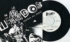 "Weirdos - Destroy All Music 7"" Bags Dickies Skulls Simpletones Cheifs Germs KBD"