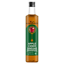 NourishVitals Apple Cider Vinegar 250ml - With Mother Vinegar, Raw, Unfiltered
