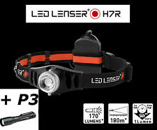 LED Lenser H7R Rechargable Headlamp Head Light Torch + P3 Flashlight Torch