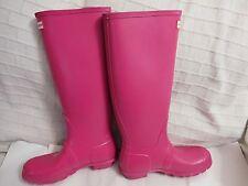 Hunter 'Original Tall' Rain Boot Matte pink (Women)  Sz 8 $150.00
