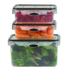 6 Piece Food Storage Set Rectangular Plastic Container BPA Free, Microwave Safe