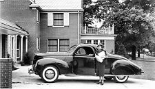 1939 Lincoln Zephyr Coupe 12 x 19 Dealership Press  Photograph