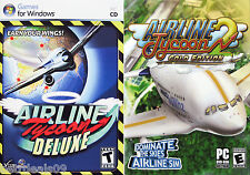AIRLINE TYCOON DELUXE + AIRLINE TYCOON 2 (G.E.) - PC GAME COMBO * New & Sealed *
