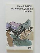 Heinrich Böll Wo warst du Adam Roman dtv Verlag