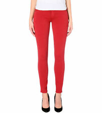 GENETIC £160 Red Stem Mid Rise Skinny Jeans  Sz 10 W28/USA 26 MM38designer