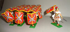 ROMANS Testudo Formation WHITE Tunics red Shield ARGENTINA DSG Soldiers Britains