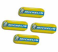 4 KIT STICKERS ADESIVI RESINATI 3D PER AUTO MOTORSPORT MICHELIN TUNING LOGO MOTO