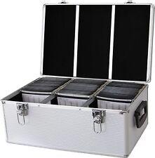 CD 510 DVD DJ Vuelo Caja Aluminio Sujetador Disco Caja Almacenamiento