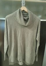 NWT Tahari Pure Luxe Beige Cowl Neck Sweater 100% Cashmere Sz M