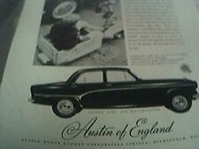 ephemera 1956  advert austin motors of england A90 westminster six