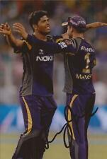 KOLKATA KNIGHT RIDERS: UMESH YADAV SIGNED 6x4 IPL ACTION PHOTO+COA