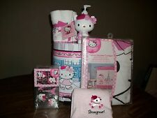 Hello Kitty Bonjour Paris Pink 21PC Bathroom/Bath Accessory Set *New*
