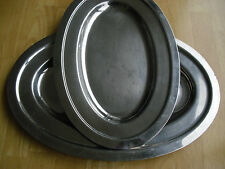 1 Stainless Steel Tray Oval polished Japan restaurant food service catering prep