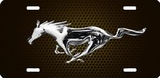 mustang horse gold new design Airbrushed car tag license plate 45