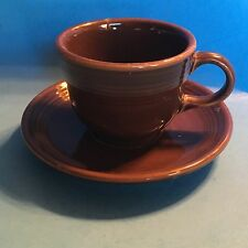 Homer Laughlin Fiesta CHOCOLATE cup and saucer set NEW