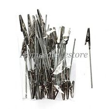50X Metal Wires Desk Memo Paper Note Recipe Picture Clip Photo Card Badge Holder