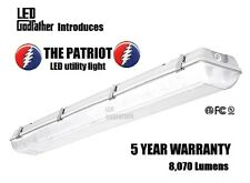 4 Ft. 66w Water Vapor Tight Lighting Fixture with 2x LED T8 Included 5000K NEW!