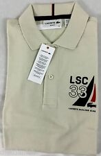 Lacoste Men's Slim Fit Polo Shirt 33 Sailing Club Vanilla Plant Beige Size XL