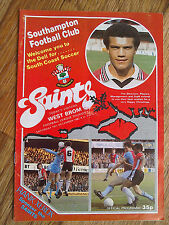 18/12/1982 Southampton Vs West Bromwich Albion Football Match Programme