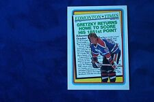 1990-91 TOPPS GRETZKY RETURNS HOME TO SCORE HIS 1851ST POINT