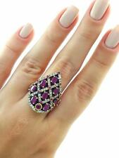 TURKISH HANDMADE JEWELRY 925 Sterling Silver Ladies Ruby Ring Size 7 R1535