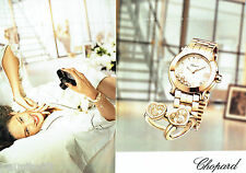 PUBLICITE ADVERTISING 086  2012  Chopard  montre collection Happy diamonds ( 2 p