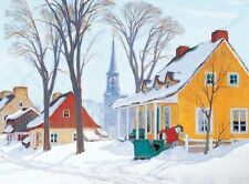 Jigsaw puzzle Winterscape Winter Morning Baie St Paul 1000 piece NEW Made in USA