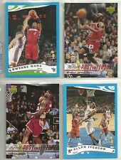 2006 The NBA Finals 4-Card Special Set - M Jordan & L James & D Wade & A Iverson