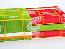 STYLISH Large COTTON Kitchen TEA TOWELS Packs DISH CLOTHS Cleaning Drying FRUITS