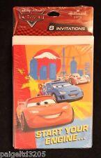 Hallmark Disney Pixar Cars Lightning McQueen Invitations Invitation Cards 8 Ct