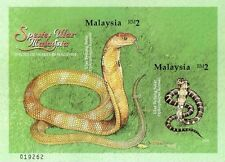 Species Of Snakes In Malaysia 2002 Reptiles Animal Fauna (ms Imperf) MNH