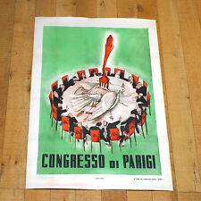 CONGRESSO DI PARIGI poster manifesto affiche Propaganda Politica Comunismo