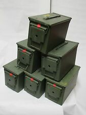 Army AMMO Tin X6 Units (Olive Green) Camping/Festival/Travel/Tool Kit/Storage