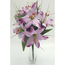 Artificial silk flowers Tiger lily lilies lilac purple