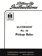 McCormick 46 Pickup Baler Setting Up Operators Manual