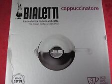 Bialetti Cappuccinatore 3 cup cappuccino maker Milk Frother glass whip frothyNew