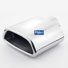 "2.3"" inlet tailpipe Stainless Steel trapezoid resonated exhaust tip muffler"