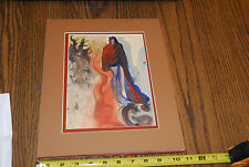 Salvador Dali Waterfall Phlegethon Original Woodcut Unsigned Divine Comedy Art !