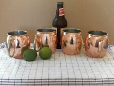 Set of 4 16oz Copper Coated Moscow Mule Mugs Cocktail Party Bar Drinking Mugs