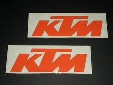 KTM Aufkleber Sticker Bapperl Decal 2 Stück Racing Exc Cross Moto org 18 NEU