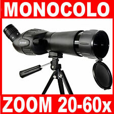 MONOCOLO CANNOCCHIALE TERRESTRE SPOTTING SCOPE ZOOM 20-60x  60mm NUOVO