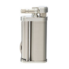Tsubota Pearl Eddie Japanese Premium Pipe Tool Lighter Silver Satin New
